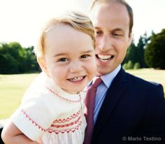 Prince George, who celebrates his second birthday on Wednesday 22 July, with his father, the Duke of Cambridge
