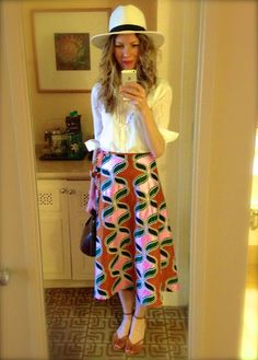 Love this tribal print skirt from Kenya! // A Blog About Love