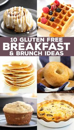 Gluten Free Breakfast Ideas | For Brunch or Busy Mornings Gluten Free Recipes For Breakfast, Gluten Free Breakfasts, Gluten Free Cooking, Make Ahead Breakfast, Breakfast Ideas, Delicious Desserts, Yummy Food, Pancakes Easy, Lunch To Go
