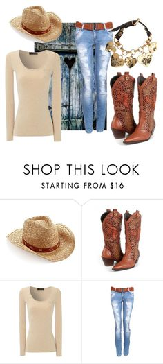 """""""southern comfort zone"""" by emmajeaneoutfits ❤ liked on Polyvore featuring Lucky Brand, Carmen Steffens, Jane Norman and Betsey Johnson"""