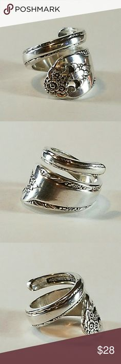 Stunning silver plated spoon ring Stunning silver plated spoon ring perfectly wrapped to fit your finger. Will size per order. spoon Me Baby Designs  Jewelry Rings
