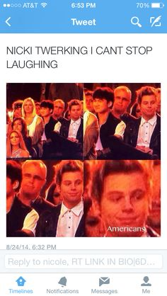 """And calums like """"don't stare don't stare. Don't stare at the booty. DONT DO IT....ok.I did it. Ha."""""""