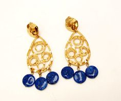 Hey, I found this really awesome Etsy listing at https://www.etsy.com/il-en/listing/234230598/vintage-gold-blue-sparkle-clip-avon