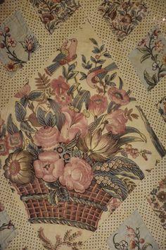 Jane Austin's quilt. Close-up view of center panel.