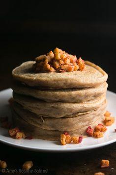 Cinnamon Apple Pancakes @FoodBlogs