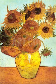 Sunflowers, c.1888 Art Print by Vincent van Gogh at Art.com