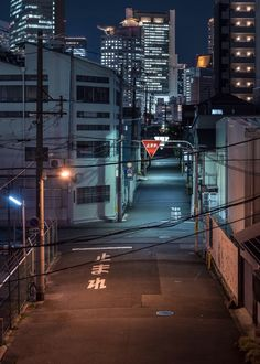 kkworks street_photography road perspective night osaka japan