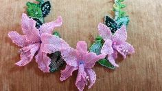 """Колье """"Манящие орхидеи"""".  Часть 4 СБОРКА/Necklace """"Alluring Orchids"""". Pa..."""
