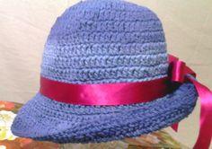 Lindos chapéus de crochê em azul jeans degrade, nos tamanhos P M G    EXCLUSIVIDADE MIMOS DE SILVINHA R$ 78,00
