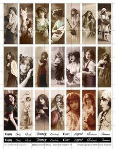 Gypsy - Glass Slide Size - Digital Collage Sheet