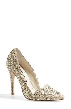 Alice+++Olivia+'Dina+Rose'+Laser+Cut+Leather+Pump+(Women)+available+at+#Nordstrom