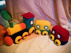 AnnaSHandMD crochet toy  Train  by AnnaSHandMD on Etsy,