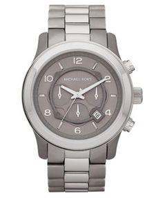 Chronograph XL Runway Gray and Silver Tone Titanium Bracelet 45mm