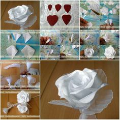 How to make Modular White Ribbon Rose step by step DIY tutorial instructions, How to, how to do, diy instructions, crafts, do it yourself, diy website, art project ideas