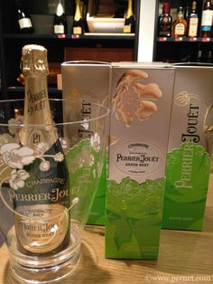Champagne Perrier Jouet in its special Menuhin Festival Gstaad wrapping.