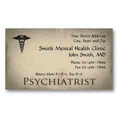 68 best physiciansurgeon medical doctor business cards images on psychiatrist mental health business card check out more business card designs at http colourmoves