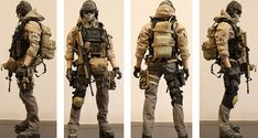 My first Kitbash - Modern Warfare (beware 16 images) - OSW: One Sixth Warrior… Military Armor, Military Gear, Gi Joe, Statues, Armor All, Military Action Figures, Future Soldier, Armor Concept, Modern Warfare