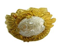 Victorian Gold Wing Bride Bracelet Cuff in by DrBrassysSteampunk, $49.01