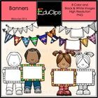 This is a mini set of buntings and children with banners. You can use them to add a splash of color to your documents or letters and write your own...