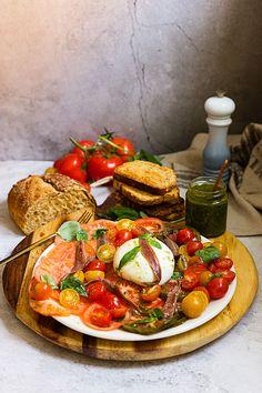 Pesto, Sin Gluten, Bruschetta, Wine Recipes, Food And Drink, Favorite Recipes, Vegan, Dinner, Clean Eating Meals