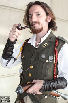 Men's Steampunk Military Waistcoat.  It even has tails, so classy.  My friend makes these, check it out!