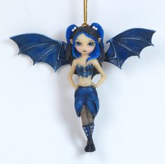 Jasmine Becket Griffith Bat Wings Fairy Ornament [7279] - $14.95 : Mystic Crypt, the most unique, hard to find items at ghoulishly great prices!