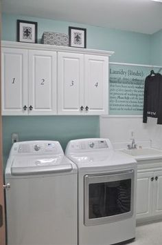 Best 20 Laundry Room Makeovers - Organization and Home Decor Laundry room decor Small laundry room organization Laundry closet ideas Laundry room storage Stackable washer dryer laundry room Small laundry room makeover A Budget Sink Load Clothes Laundry Room Remodel, Laundry Room Cabinets, Laundry Closet, Laundry Room Organization, Small Laundry, Laundry Room Design, Laundry In Bathroom, Diy Cabinets, Basement Laundry