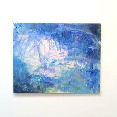【torii0_0_0】さんのInstagramをピンしています。 《『遠い声#5』F30号  #アクリル絵の具 #artist #art #トキアートスペース #渋谷区 #個展 #抽象画 #F30 #abstract #アート #森 #地球 #キリン》