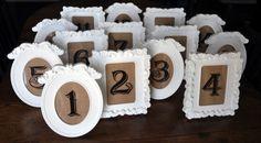 Et voici un DIY extrêmement simple à réaliser, qui prend deux secondes et qui vous permettra de décorer vos tables de mariage! Des cadres, tissu et stickers et le tour est joué! Dans un esprit vi…