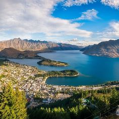 25% Wall Art: Use code DREAM25 Expires June 21, 2018, at 11:59 pm Queenstown Panorama at golden hour, New Zealand.