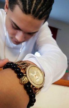 Men's Lionhead Black Beaded Bracelet, Budda, Stretchy, Rubberized, Matte Black Beads,Fathers Day, Dad Gifts Handmade, Custom Beaded Jewelry
