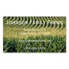 Farming Business Card. Make your own business card with this great design. All you need is to add your info to this template. Click the image to try it out!