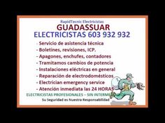 Electricistas GUADASSUAR 603 932 932 Baratos