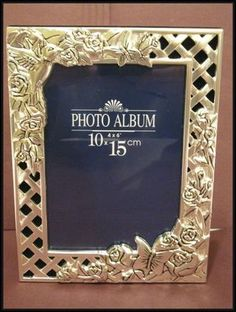 Hummingbird Silver Plated Photo Keepsake Album