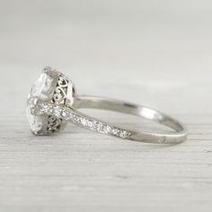 Image of 3.77 Carat Vintage Art Deco Engagement Ring. Pretty...A girl can dream :)