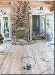 fireplace brick color