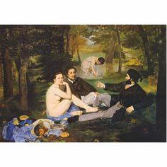 LE TABLEAU Monet Paintings, Edouard Manet Paintings, Paul Cezanne, Renoir, Les Oeuvres, Modern Art, Fine Art, Illustration, Grass