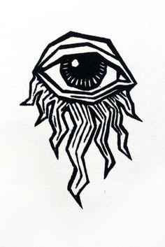 Trippy Drawings, Tattoo Drawings, Pencil Art Drawings, Abstract Drawings, Desenho Tattoo, Eye Art, Art Sketchbook, Doodle Art, Art Inspo