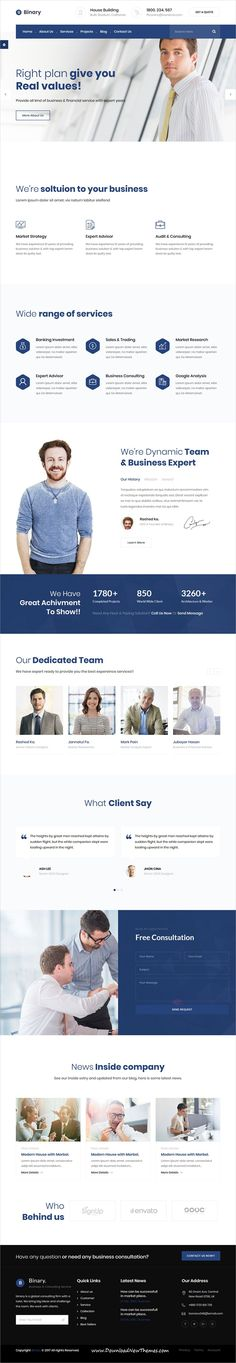 Binary is clean and modern design 2in1 responsive #bootstrap template for #business consulting and professional services website click on the image to download now..