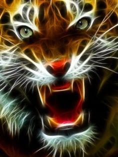 tiger fractal cats e - photo #28