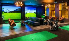 Fairways Golf Bar  Okay, so this may not be a secret. But it's definitely a gem. This reservations-only golf lounge offers an extensive food menu, a wide selection of craft beers and HD golf simulator flat screens. Now you can spend your Friday night with links & drinks at this laid-back environment. Golf Bar, Golf Channel, Play Golf, Lounge Areas, Bar Lounge, Golf Tips, Mens Golf, Four, Chicago Bars