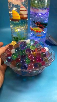 How do you make Orbeez glow in the dark?- Learn how to make an Orbeez Glow-in- the-dark Nightlight. … Make your own Orbeez lanterns that are perfect for summer barbecue decor… - Diy Crafts Hacks, Diy Crafts For Gifts, Jar Crafts, Resin Crafts, Creative Crafts, Diy For Kids, Crafts For Kids, Summer Crafts, Glass Bottle Crafts