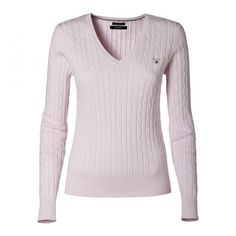 Stretch Cotton Cable Crew sweater ❤ liked on Polyvore
