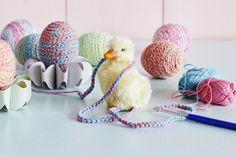 Easter crochet eggs.
