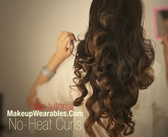 Kim Kardashian long curly hairstyles hair tutorial | prom wedding homecoming video| how to curl heatless / no-heat