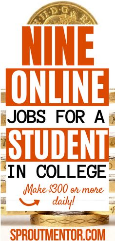 Are you a high school or college student looking for best online jobs for college students which will allow you to work from home and still make money online every month? Check out these side hustle ideas and part time jobs for students and anybody else looking for simple stay at home jobs to make extra cash with!