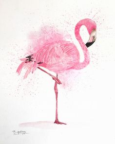 Lovely flamingo wall art printed from my original artwork. Perfect for a tropincal themed room or for any flamingo love! Flamingo Nursery, Flamingo Painting, Flamingo Decor, Pink Flamingos, Mandala Art, Woodland Nursery Prints, Flamingo Wallpaper, Flamingo Birthday, Floral Watercolor