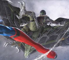 Concept art of 'The Vulture' in 'Spider-Man: Homecoming' (2017)
