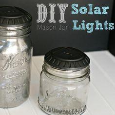 {DIY Mason Jar Solar Lights!}