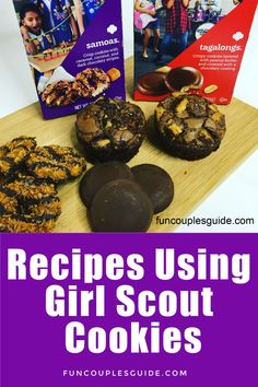 10 Simple dessert recipes using Girl Scout Cookies. Make sweet treats with Tagalongs, Samoas, Thin Mints, Shortbreads and Lemonades. Recipe Using Girl Scout Cookies, Girl Scout Cookies Recipes, Shortbread Girl Scout Cookies, Desserts To Make, Cookie Desserts, Holiday Desserts, Holiday Treats, Cookie Recipes, Gs Cookies